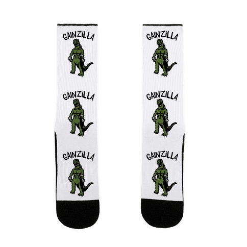 Gainzilla Lifting Parody Sock