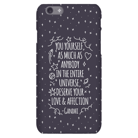Love Yourself Gandhi Quote Phone Case
