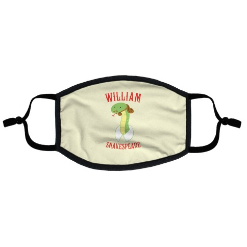 William Snakespeare Flat Face Mask
