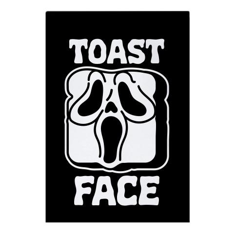 Toast Face  Garden Flag