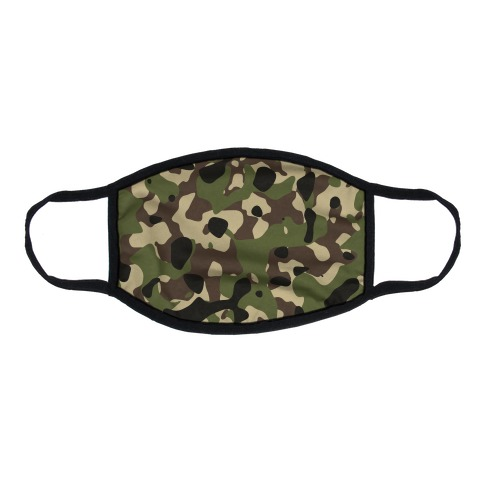 Camo Pattern Flat Face Mask