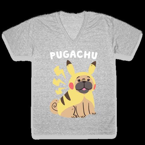 Pugachu V-Neck Tee Shirt