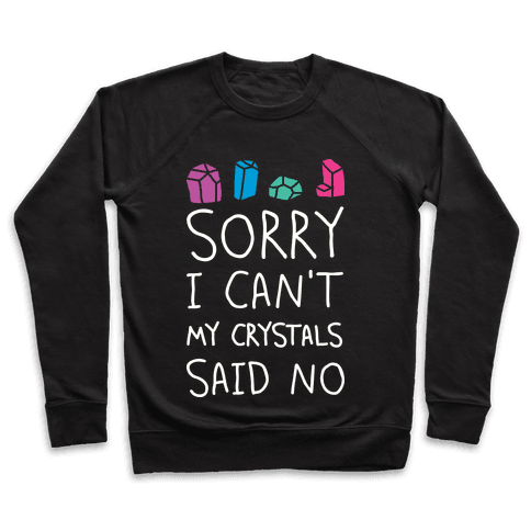 Sorry I Can't My Crystals Said Now Pullover