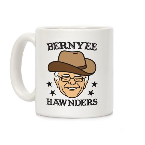 Bernyee Hawnders (Cowboy Bernie Sanders) Coffee Mug
