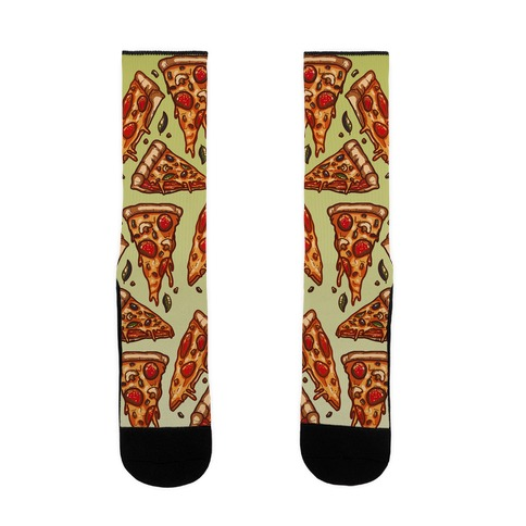 Pizzas Pattern Sock