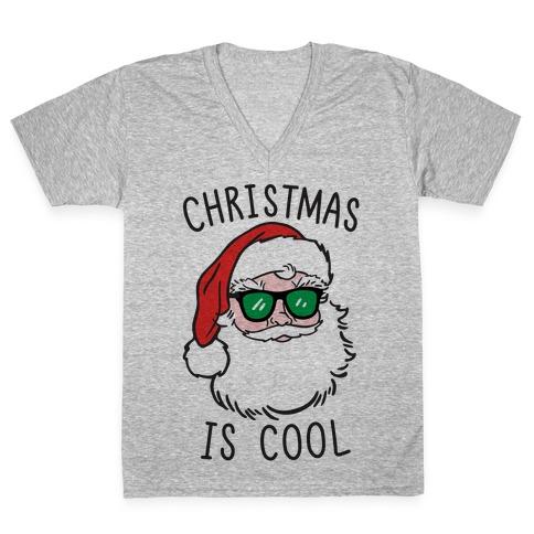 Christmas Is Cool V-Neck Tee Shirt