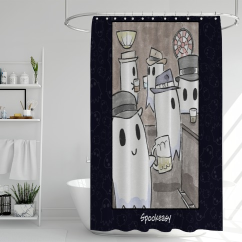 Spookeasy Shower Curtain