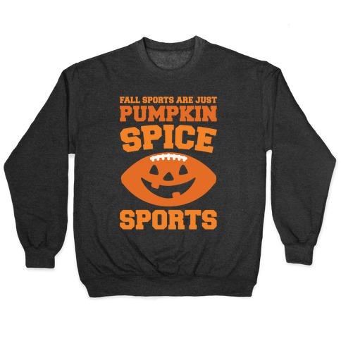 Pumpkin Spice Sports Parody White Print Pullover