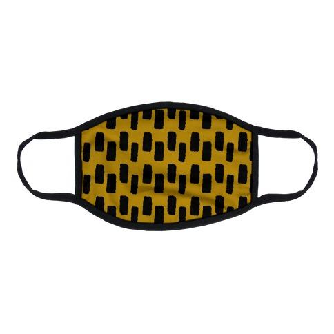 Organic Rectangle Pattern Mustard yellow Flat Face Mask