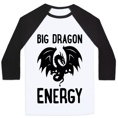 Big Dragon Energy Baseball Tee