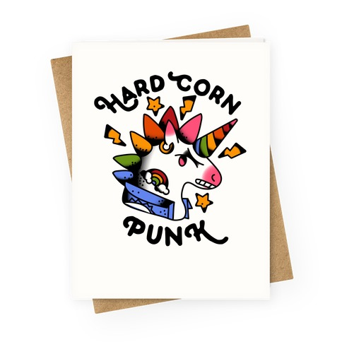 Hard Corn Punk Greeting Card