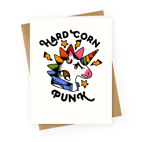 Hard Corn Punk Greeting Card
