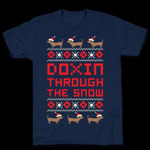 Doxin Through the Snow Mens T-Shirt