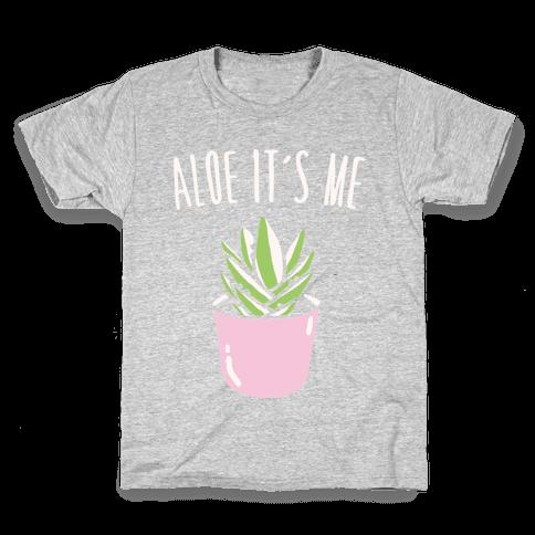 Aloe It's Me White Print Kids T-Shirt