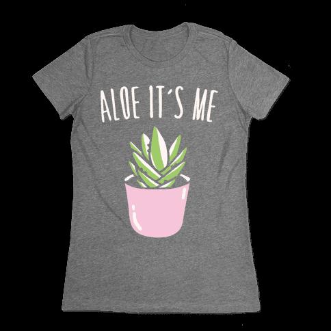 Aloe It's Me White Print Womens T-Shirt