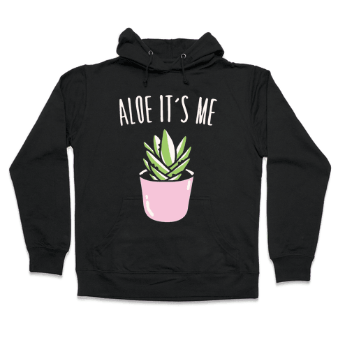 Aloe It's Me White Print Hooded Sweatshirt