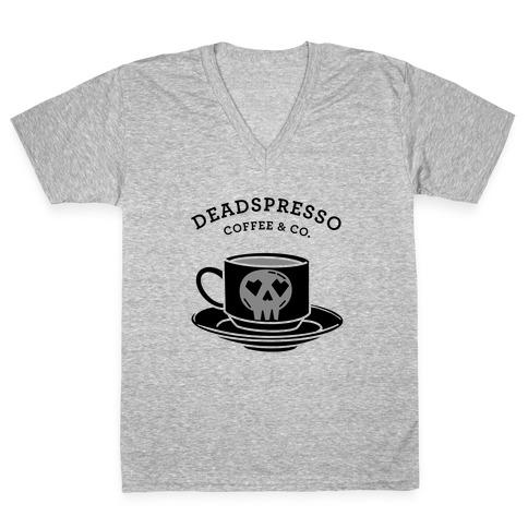 Deadspresso (Black) V-Neck Tee Shirt
