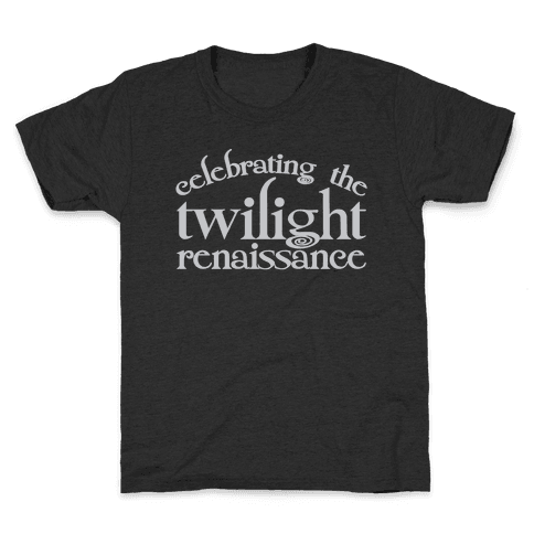 Celebrating The Twilight Renaissance Parody White Print Kids T-Shirt