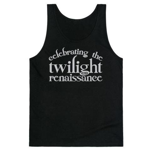 Celebrating The Twilight Renaissance Parody White Print Tank Top