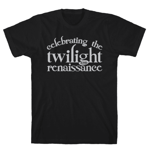 Celebrating The Twilight Renaissance Parody White Print Mens T-Shirt