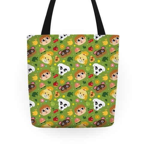 Animal Crossing Pattern Tote