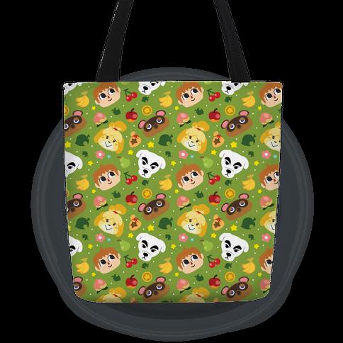 Animal Crossing Pattern Tote