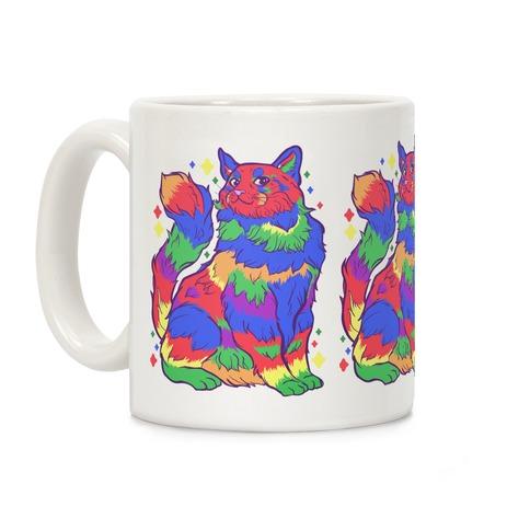 Gay Pride Cat Coffee Mug