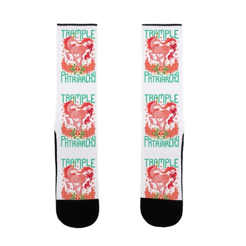 Trample The Patriarchy Sock