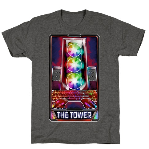 The Gaming Tower Tarot Card T-Shirt