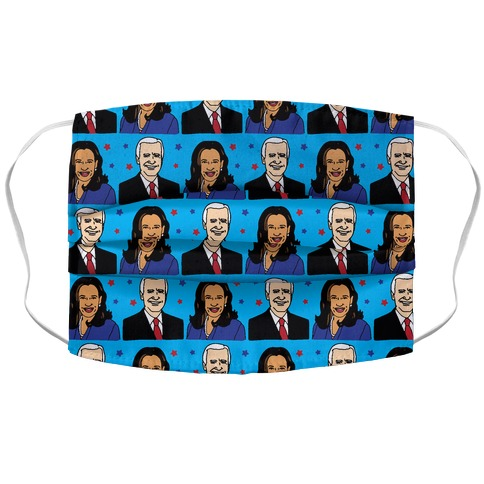 Biden Harris 2020 Pattern Accordion Face Mask