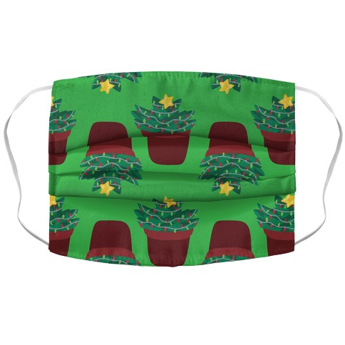 Christmas Succulent Pattern Accordion Face Mask