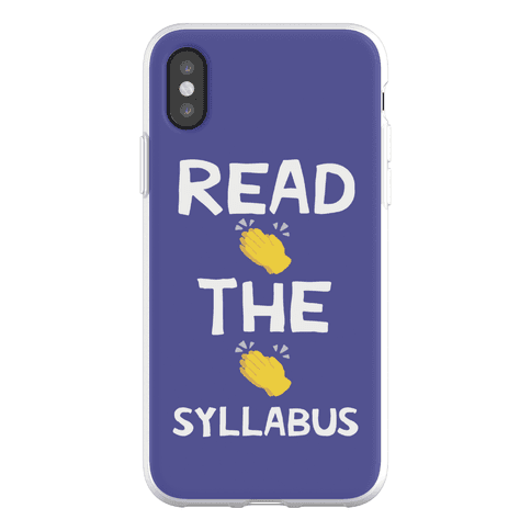 Read The Syllabus Clap Emoji Phone Flexi-Case