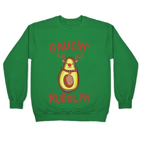 Guacin' Rudolph Parody White Print Pullover