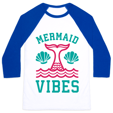 Mermaid Vibes Baseball Tee