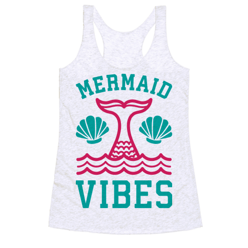 Mermaid Vibes Racerback Tank Top