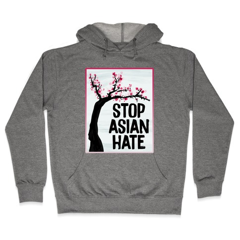 Stop Asian Hate Plum Blossoms Hooded Sweatshirt