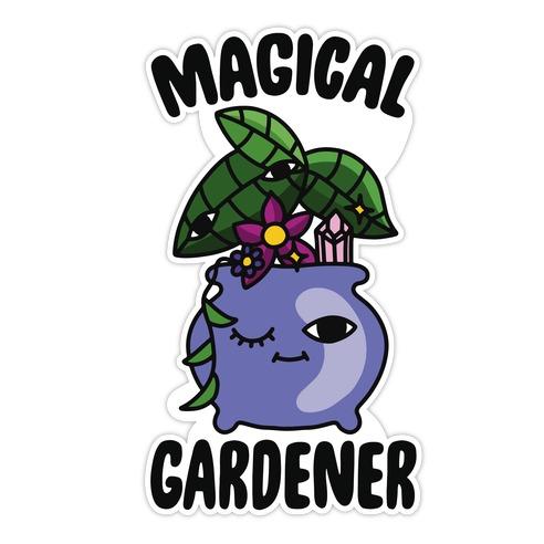 Magical Gardener Die Cut Sticker