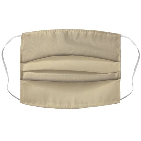 Taupe Face Mask Cover Accordion Face Mask