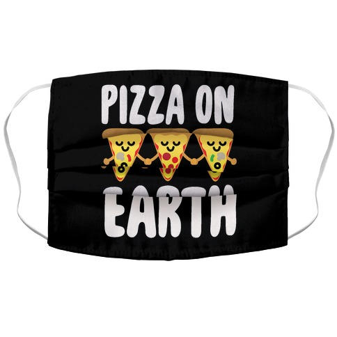 Pizza On Earth Accordion Face Mask