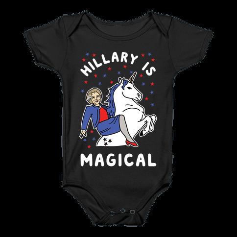 Hillary is Magical Alt Baby Onesy