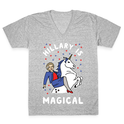 Hillary is Magical Alt V-Neck Tee Shirt