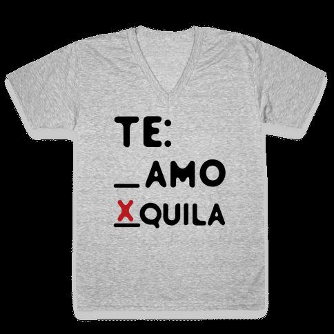 Te amo Tequila V-Neck Tee Shirt