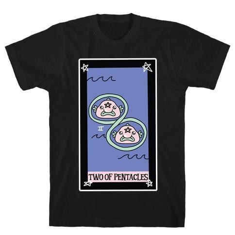 Creepy Cute Tarots: Two of Pentacles T-Shirt