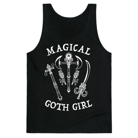 Magical Goth Girl White Tank Top