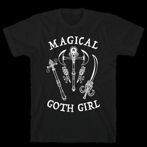 Magical Goth Girl White Mens/Unisex T-Shirt