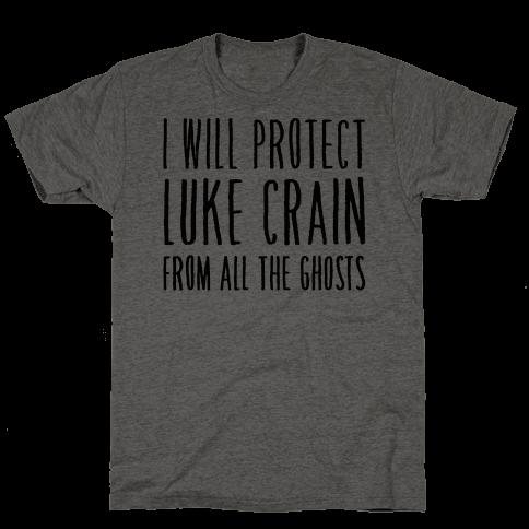 I Will Protect Luke Crain Parody White Print Mens T-Shirt
