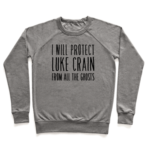 I Will Protect Luke Crain Parody White Print Pullover
