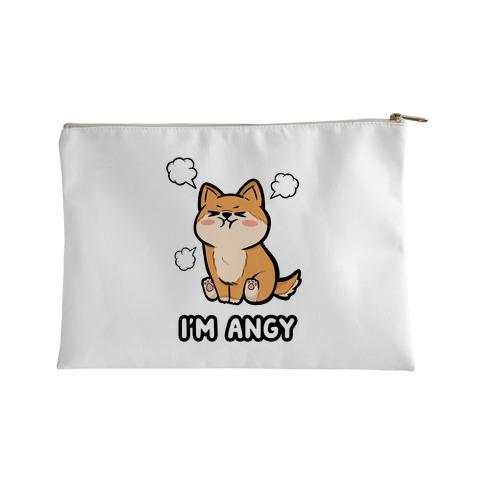 I'm Angy Shiba Inu Accessory Bag
