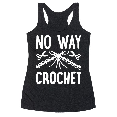 No Way Crochet Racerback Tank Top