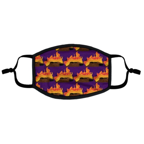 Campfire Pattern Flat Face Mask